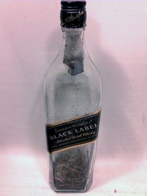"Altered Johnny Walker Bottle - ""Burnt Walker"""