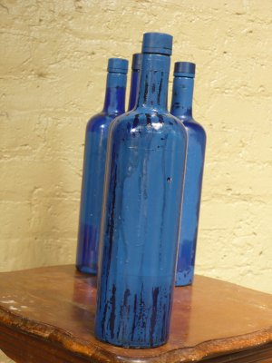 "Altered Skyy Bottle - ""Blue to Blue"""
