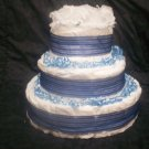 3 TIER BLUE CAKE