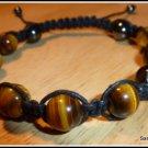 Tigers Eye Bracelet, Macrame, Mens Bracelet, Unisex Bracelet