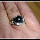 Shell Peacock Pearl Ring, wire wrapped Silver, any size