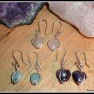 Sterling Silver Amethyst Heart Earings, gift boxed, February birthstone