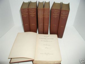 History of the United States Rhodes 7 Volumes 1896 +