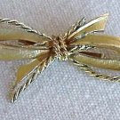 Goldtone Bow Brooch