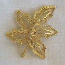 Gerry's Goldtone Leaf Brooch
