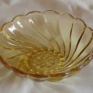 Hazel Atlas Amber Colony Swirl Berry Bowl