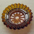 Amber Glass Candle Holder - Memory Lane Collectibles