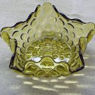 Amber Star-shaped Candy Dish - Memory Lane Collectibles