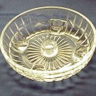 Sparkly Clear Glass Candle Bowl - Memory Lane Collectibles