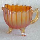 Carnival Glass Creamer National Pattern - Memory Lane Collectibles
