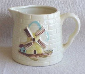 Creamer with Windmill Design - Made in Japan - Memory Lane Collectibles