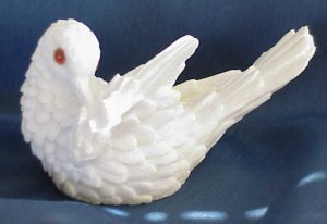 Salt Glazed Dove Figurine - Memory Lane Collectibles