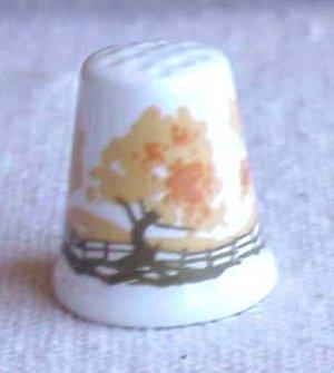 Bone China Thimble from Scotland - Memory Lane Collectibles