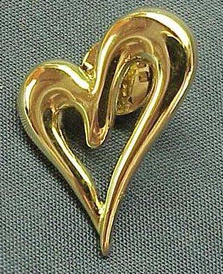Bright & Shiny Goldtone Heart Tack Pin