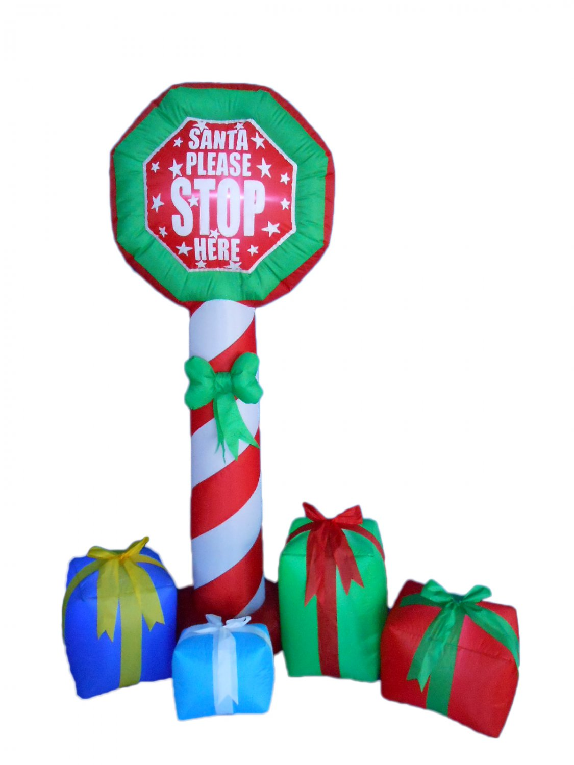 6 Foot Tall Christmas Inflatable Stop Sign Gift Boxes Yard Decoration #263