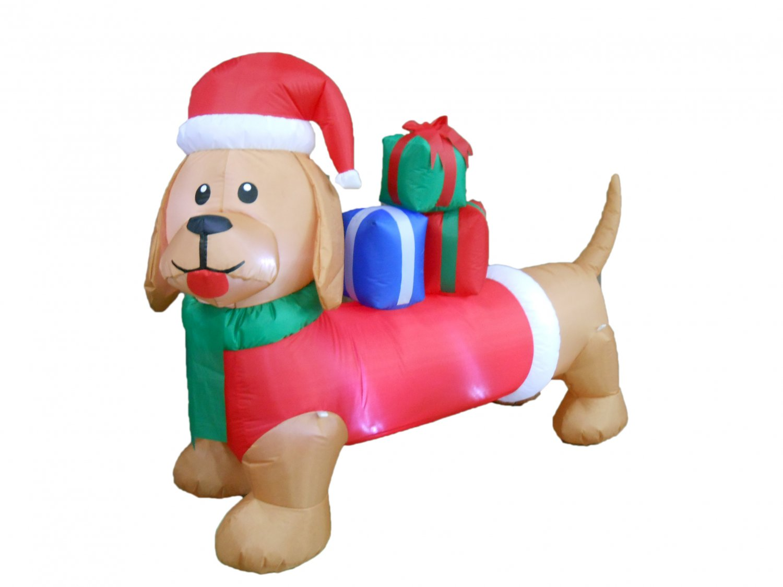 6 Foot Long Christmas Inflatable Dog Yard Decoration #272