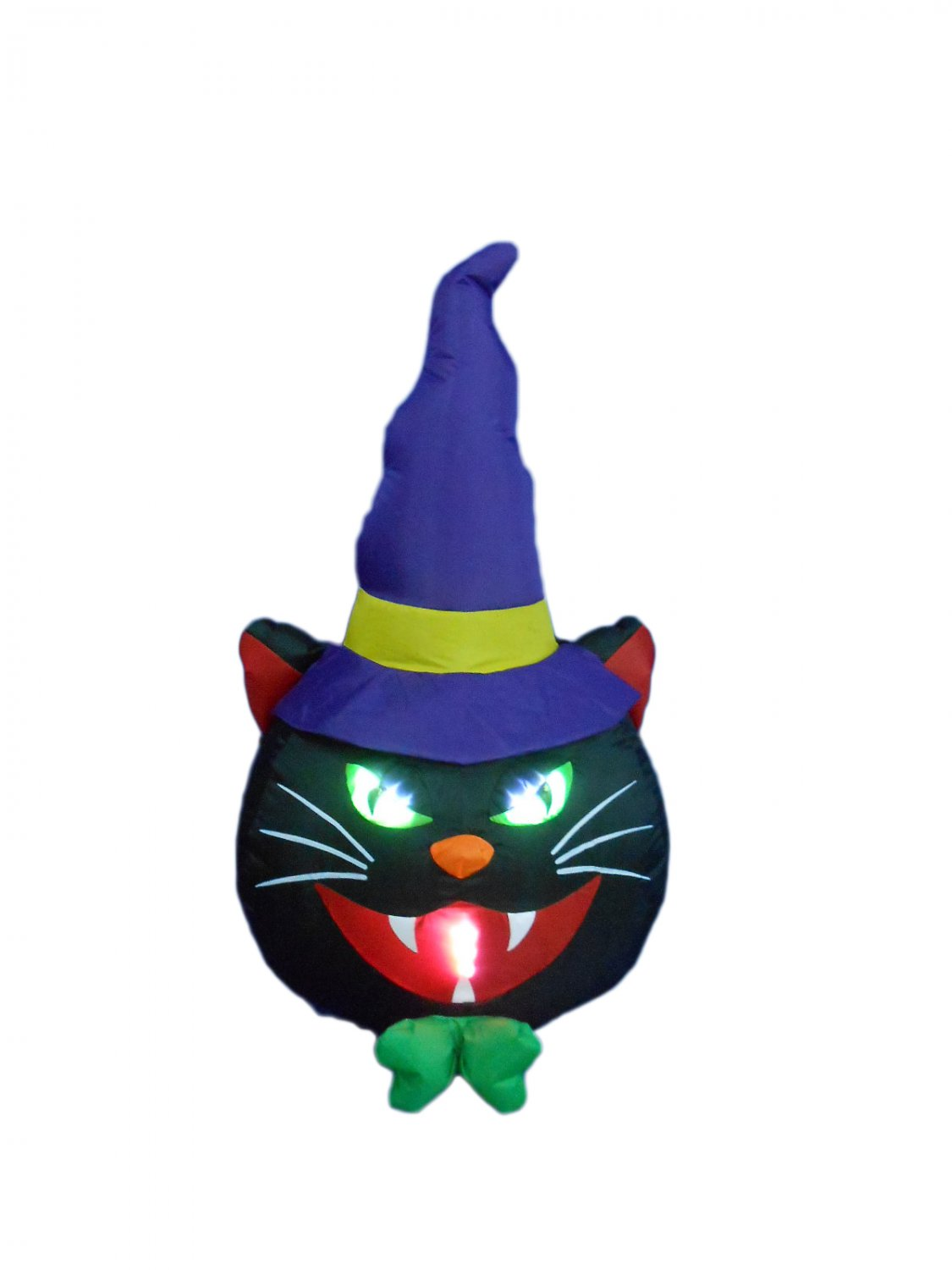 4 Foot Tall Halloween Inflatable Black Cat with Hat Decoration #276