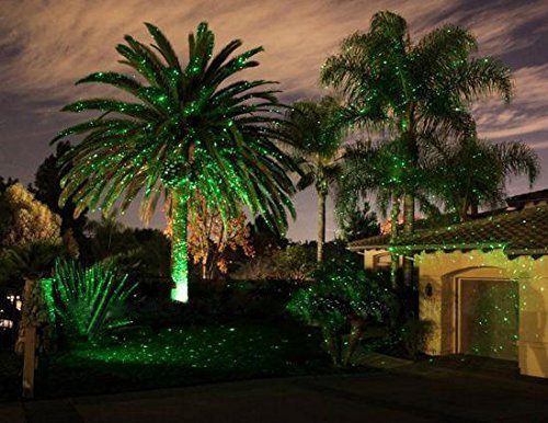Green and Red Garden Tree and Outdoor Wall Decoration Laser Lights for Holiday Lighting #281