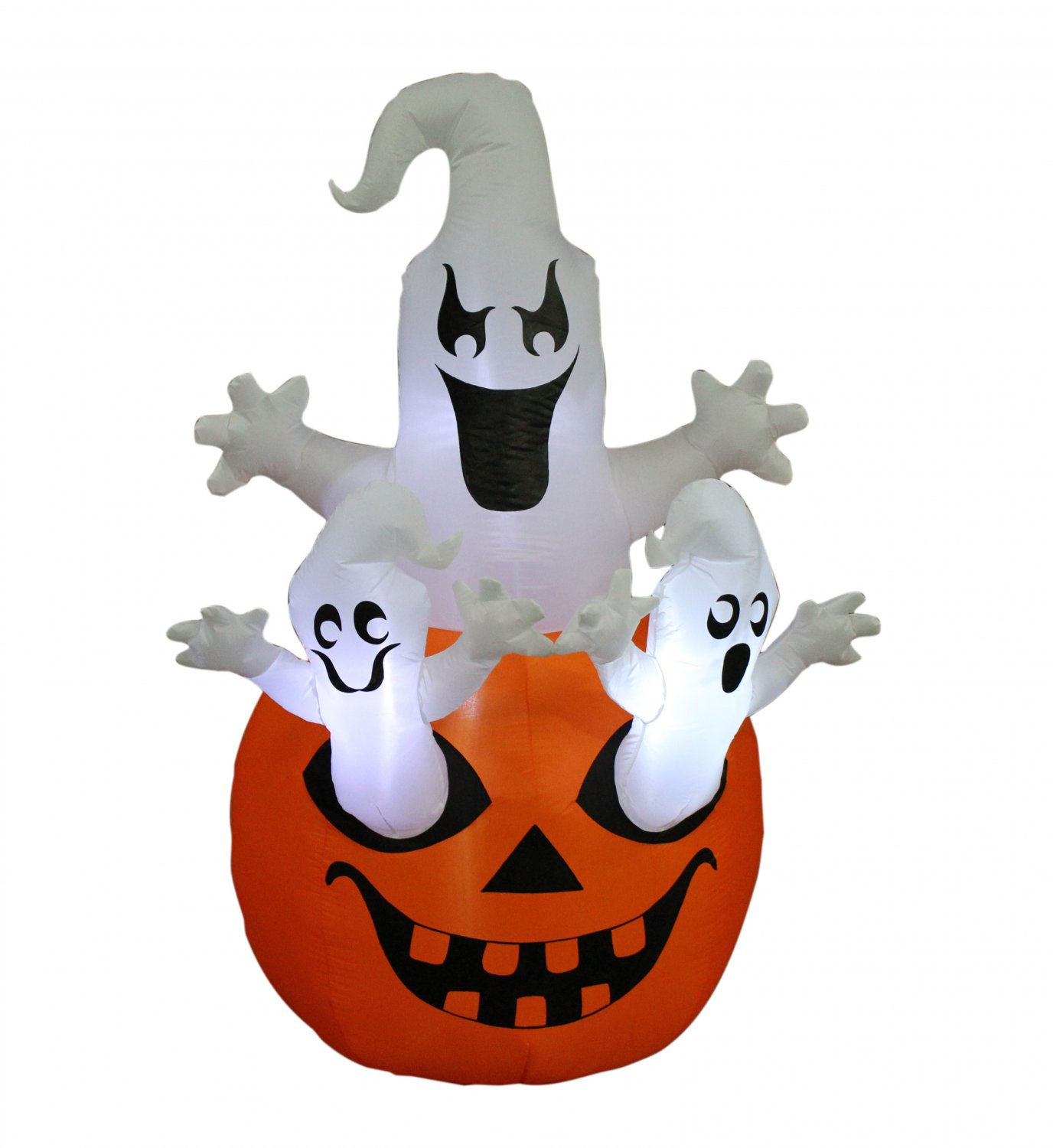 Halloween Inflatable Three Ghosts Pumpkin Yard Party Decoration Blowup LED Light #293