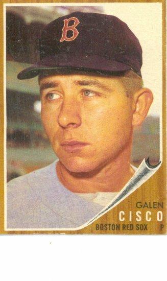 '62 Galen Cisco - Topps #301 - Red Sox