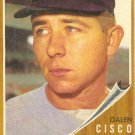 '62 Galen Cisco - Topps #301 - Red Sox