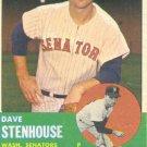 '63 Dave Stenhouse - Topps #263 - Senators