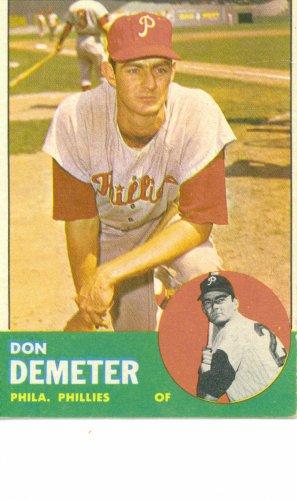 '63 Don Demeter - Topps #268 -  Phillies
