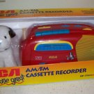 RCA Dog Gone Great AM/FM Cassette Player Recorder RP-7701K9 W/ Plush Toy NEW