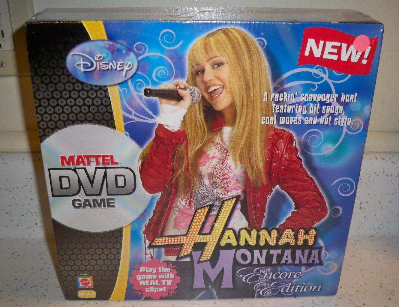 Disney Hannah Montana Mattel DVD Game ,Brand New
