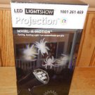 Gemmy LED Light Show Projection WHITE SPIDERS Halloween Light Whirl-A-Motion
