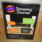 "Screaming Doormat Halloween Decoration Battery operated 10"" x 14"" New"