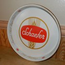 Vintage Schaefer Beer Metal Serving Tray 13""
