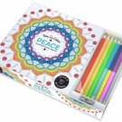 Vive Le Color! Peace Adult Coloring Book with Pencils Abrams Noterie New
