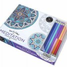 VIVE LE COLOR! MEDITATION ADULT COLORING BOOK AND PENCILS COLOR THERAPY KIT