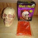Shot In The Head Skull & Test Tube Shots Set HALLOWEEN PARTY DRINK SET