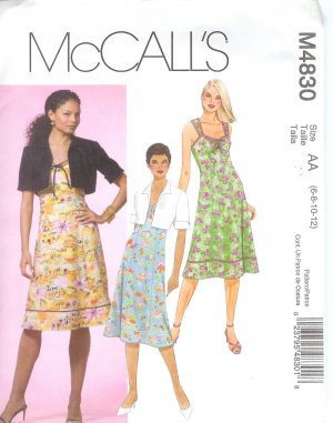 M4830 McCalls Pattern Lined Jacket and Dress Misses Size EE 14-16-18-20