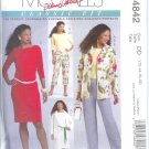 M4842 McCalls PALMER PLETSCH Unlined Jacket, Top, Dress & Pants in Two Lengths Misses Size 12 - 18