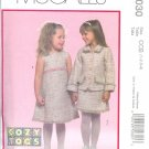 M5030 McCall Pattern COZY TOGS Lined Jacket, Jumper and Skirt Girls Toddlers Size CCB 1-2-3-4
