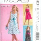 M4827 McCalls Pattern WOMANS DAY Dress & Tie Belt Misses/Miss Petite  Size 6-8-10-12