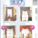 "M3086 McCall Pattern HOME DECOR ""IN A SEC"" Window Treatments"