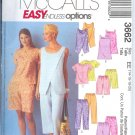 M3662 McCalls EASY ENDLESS OPTIONS Tops Tunic Pull-on Capri Pants Shorts Misses/Miss Petite  6-12