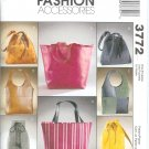 M3772 McCalls Pattern FASHION ACCESSORIES LINED BAGS