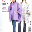 M4207 McCalls Pattern STITCH 'N SAVE Ponchos Misses Size A  S, M, L