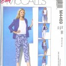 M4469 McCalls  EASY NON-STOP Shirts Top Skirt & Pants in 2 Lengths Misses/Miss Petite Size 10-16