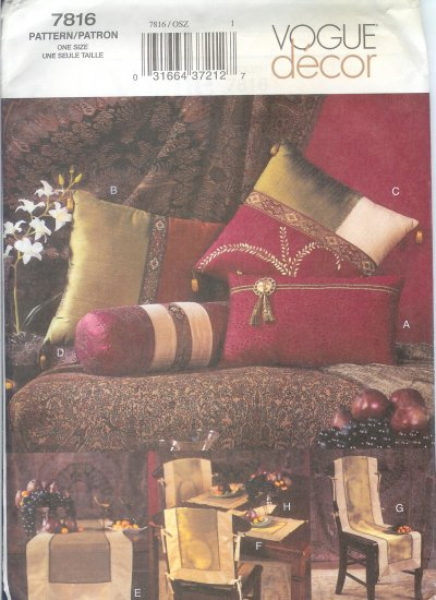 V7816 Vogue Pattern Decor Home Accessories