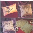 V7817 Vogue Pattern BEADED Pillow Covers and Table Scarf