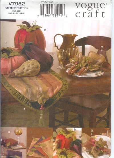****SOLD*****V7952 Vogue Pattern Autumn Table Top Accessories