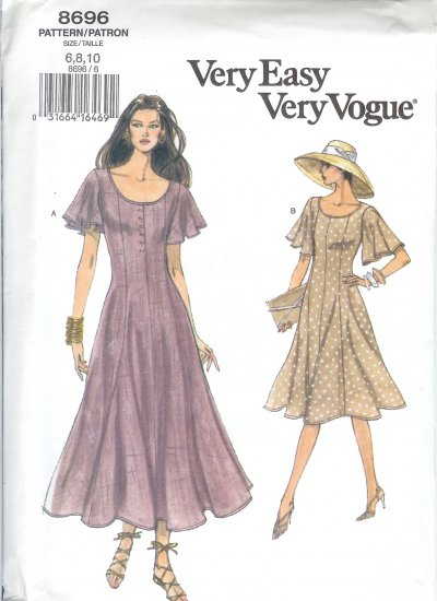 V8696 Vogue Pattern VERY EASY VERY VOGUE Dresses Misses Size 18,20,22