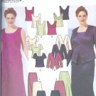 S5973 Simplicity Pattern Evening Jacket,Slim & Flared Skirts & Top Misses Size FF 18W-24W