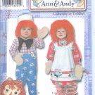 S4471 Simplicity Pattern RAGGEDY ANN & ANDY Costumes for Toddlers Size AA 1/2,1,2